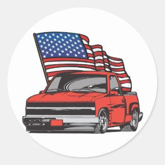 Caminhão feito sob encomenda americano adesivo