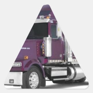 caminhão grande adesivo triangular