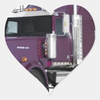 caminhão grande adesivos em forma de corações