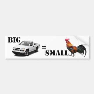 Caminhão grande, pequeno ..... adesivo para carro