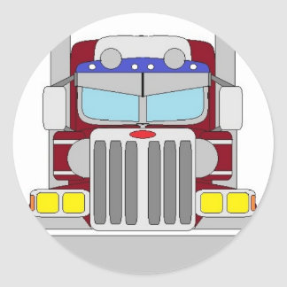 caminhão marrom adesivo