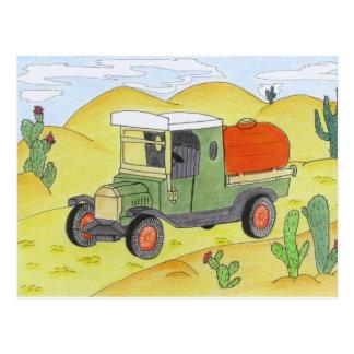 caminhão no deserto cartão postal