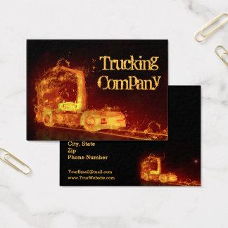 Caminhão no fogo! - Cartão de visita da empresa de