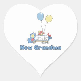 Caminhão novo da avó é presentes de um menino adesivo em forma de coração