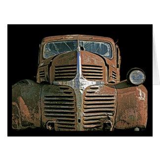 Caminhão oxidado cartão comemorativo grande