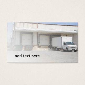 caminhão por uma doca de descarregamento cartão de visitas