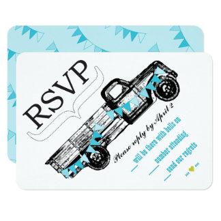 Caminhão RSVP do vintage que obtem RSVP retro Convite 8.89 X 12.7cm