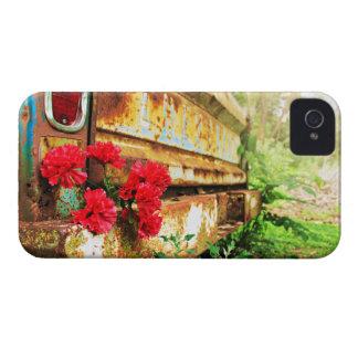 Caminhão rústico floral e da fazenda capas para iPhone 4 Case-Mate