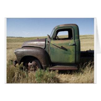 Caminhão velho cartão comemorativo