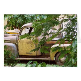 Caminhão velho cartão de nota