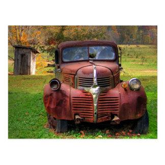 Caminhão velho cartao postal