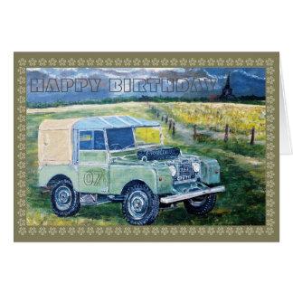 Caminhão velho da fazenda cartão comemorativo