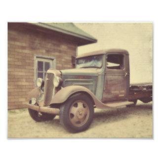 Caminhão velho do tempo impressão fotográfica