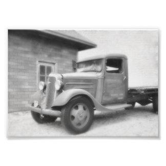 Caminhão velho do tempo arte de fotos