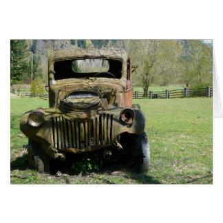 Caminhão velho oxidado do Junker Cartão Comemorativo