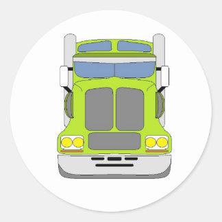 caminhão verde do snot adesivo