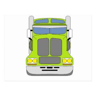 caminhão verde do snot cartao postal