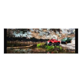 Caminhão vermelho e verde impressão de foto