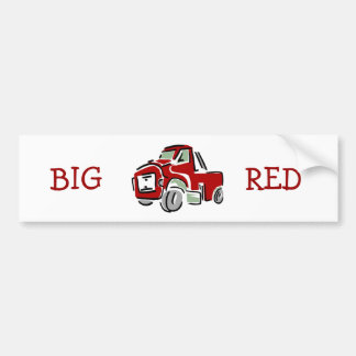 Caminhão vermelho grande adesivo para carro