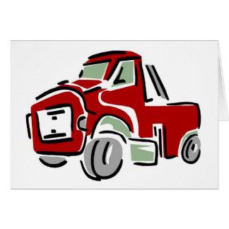 Caminhão vermelho grande cartão de nota