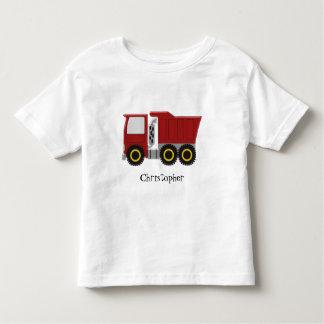 Caminhão vermelho personalizado camiseta infantil