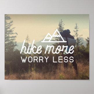 Caminhe mais, preocupe menos poster