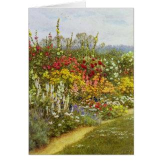 Caminho da erva e da flor cartão comemorativo