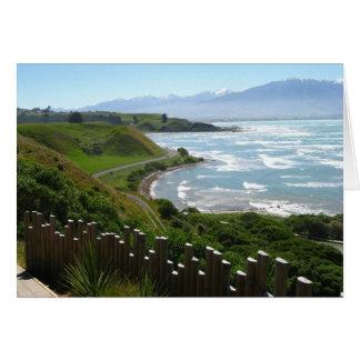 Caminho de Kean do ponto, cartão de Nova Zelândia