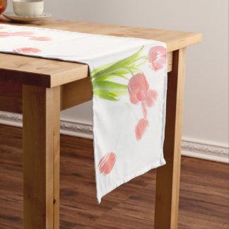 Caminho De Mesa Grande Corredor cor-de-rosa retro da mesa da flor branca