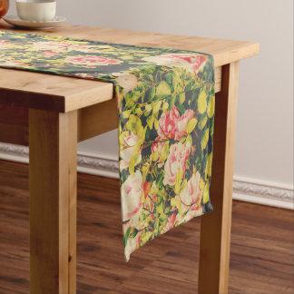 Caminho De Mesa Grande Corredor retro da mesa com rosas bonitos
