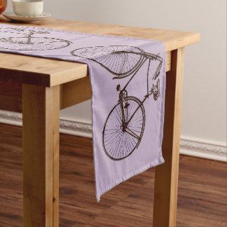 Caminho De Mesa Grande Malva roxo do corredor bonito da mesa da bicicleta