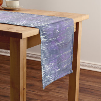 Caminho De Mesa Médio Prata roxa original desiludida da ameixa da mesa  