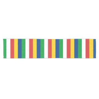 Caminho De Mesa Pequeno A bandeira de Seychelles listra linhas teste