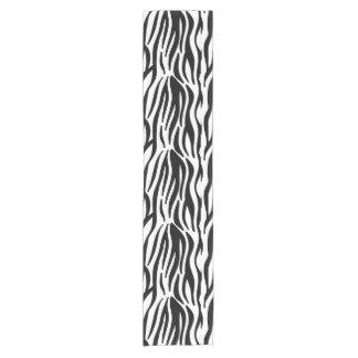 Caminho De Mesa Pequeno A zebra preto e branco moderna listra o teste