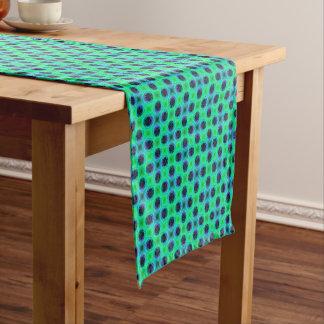 Caminho De Mesa Pequeno Abstrato geométrico azul roxo verde