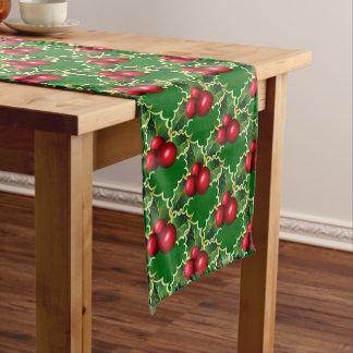 Caminho De Mesa Pequeno Azevinho do vermelho do Corredor-Natal da mesa