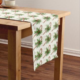 Caminho De Mesa Pequeno Bastões de doces & corredor da mesa do Natal do