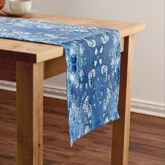 Caminho De Mesa Pequeno Bolhas abstratas água do azul e corredor da mesa
