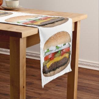 Caminho De Mesa Pequeno cheeseburger delicioso com fotografia das