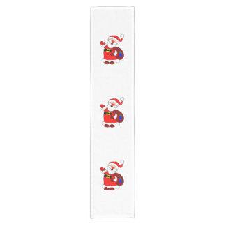 Caminho De Mesa Pequeno Clipart do saco de Papai Noel e de presente