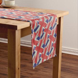 Caminho De Mesa Pequeno Close up de seda da bandeira de Union Jack