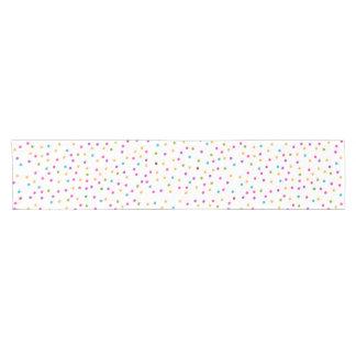 Caminho De Mesa Pequeno Confetes coloridos abstratos elegantes