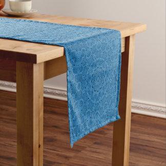 Caminho De Mesa Pequeno Corredor   azul decorativo da mesa do