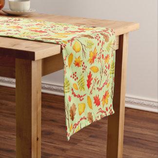 Caminho De Mesa Pequeno Corredor colorido da mesa das folhas de outono
