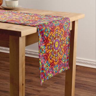 Caminho De Mesa Pequeno Corredor colorido da mesa Yum do caleidoscópio