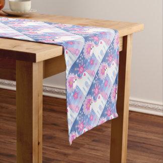 Caminho De Mesa Pequeno Corredor cor-de-rosa bonito da mesa do unicórnio