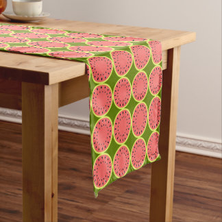 Caminho De Mesa Pequeno Corredor cor-de-rosa da mesa da melancia multi