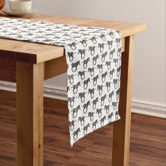 Caminho De Mesa Pequeno Corredor da mesa da agitação da zebra do bebê