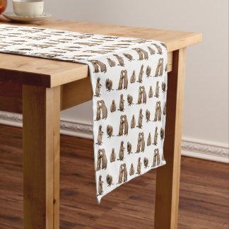 Caminho De Mesa Pequeno Corredor da mesa da agitação do cão de pradaria