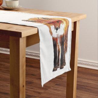 Caminho De Mesa Pequeno corredor da mesa da raposa, linho de mesa da